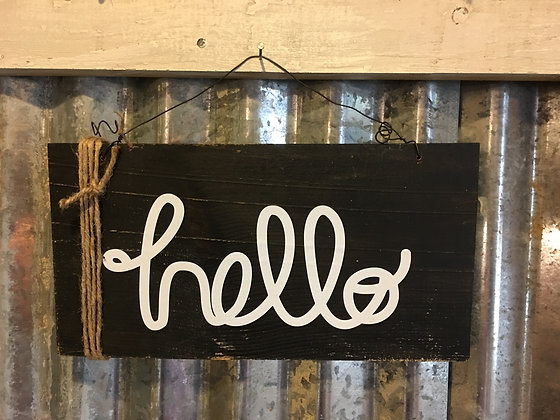 """Hello"" sign"