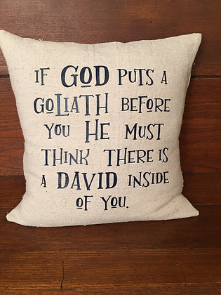 Goliath/David Pillow