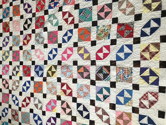 White Background Vintage Quilt