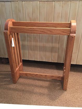 Oak Free Standing Quilt Rack
