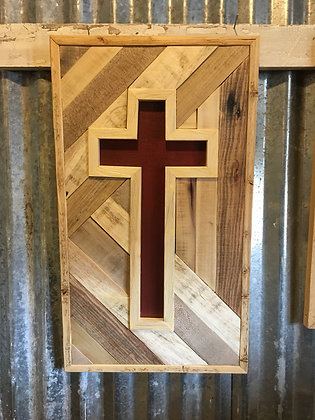 Inlaid Wooden Cross