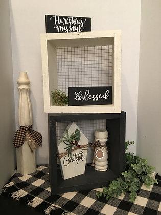 Wire Backed Shelf/Shadow Box