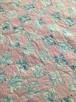 Vintage Pink/Gray Quilt