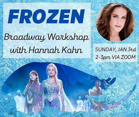 FROZEN Broadway Workshop with Hannah Koh