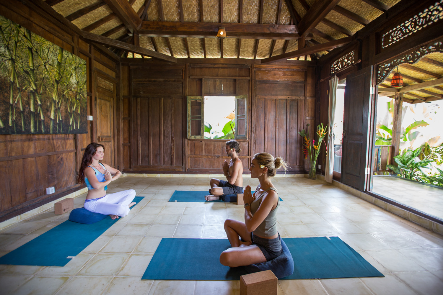 Yoga space in private Villa Naomi