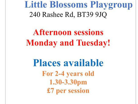 Afternoon Pre-school Places from September!