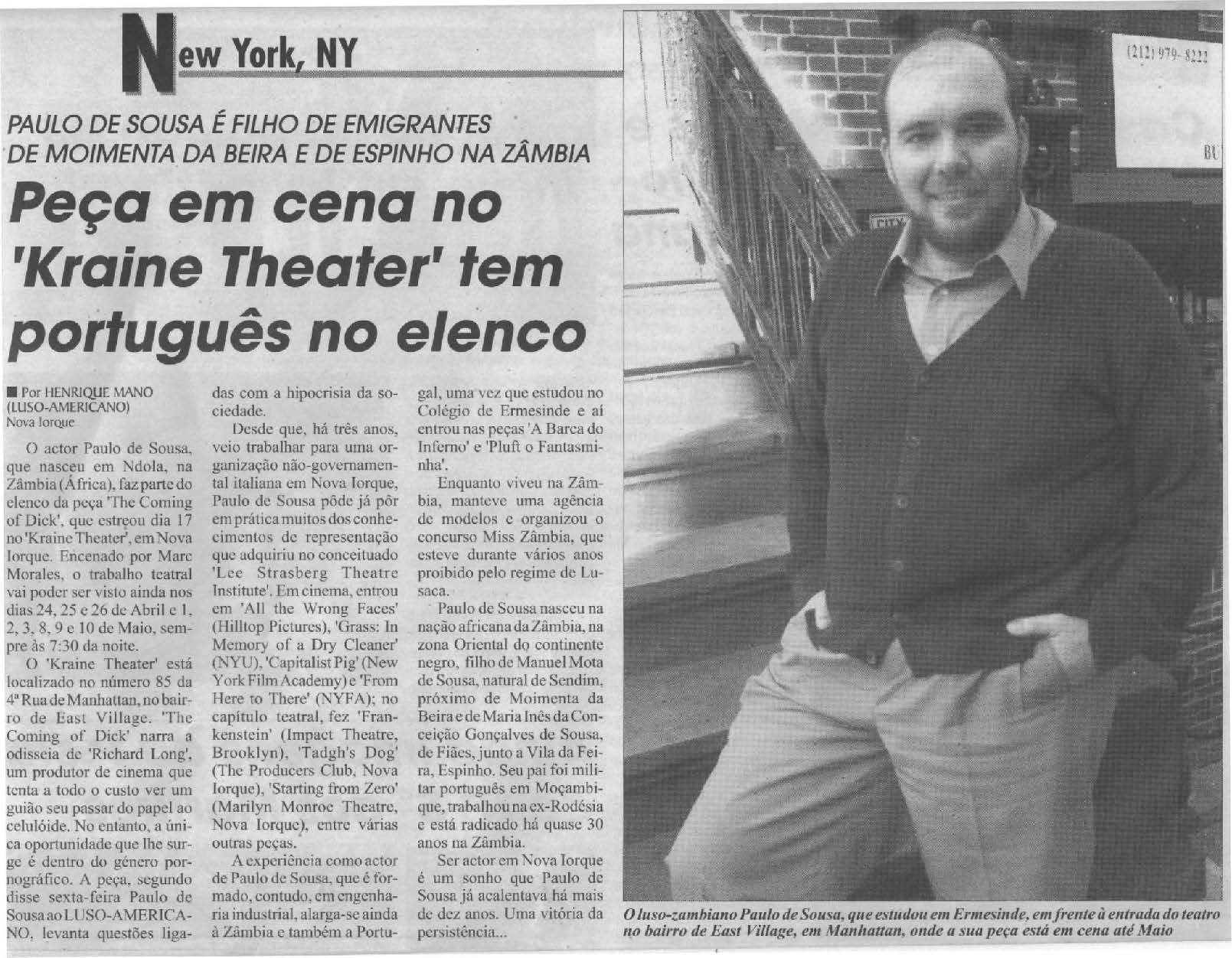 Luso Americano article