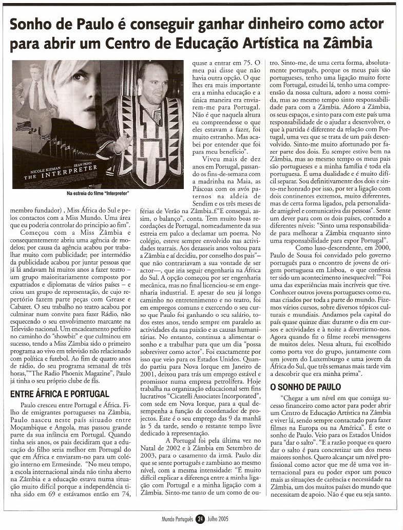 Mundo Portugues - Julho 20057
