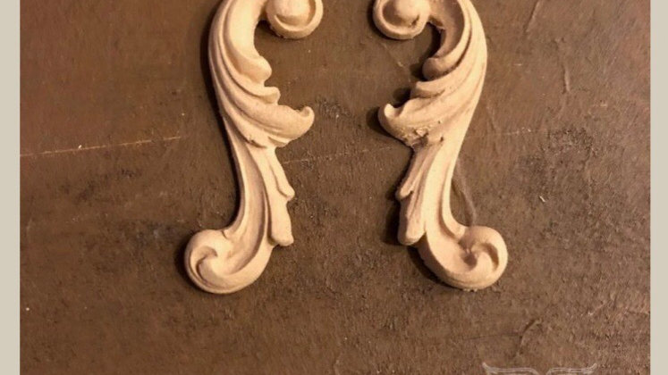 WoodUbend Pair of Decortive Scrolls approx size 8x3 cm