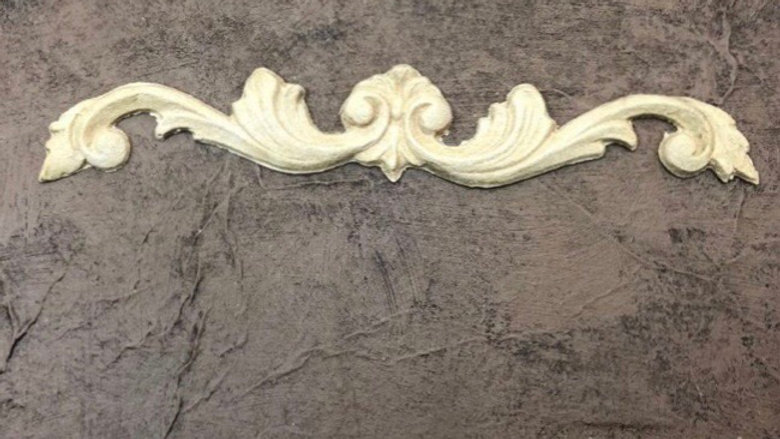 WoodUbend Pediment code 0380 approx size 16.6x2.8 cm