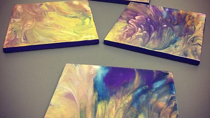 Hand Painted Ceramic Coasters