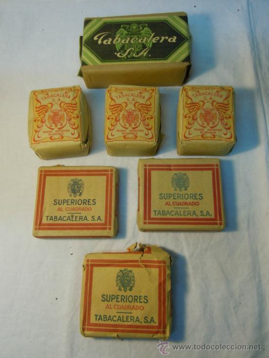 Antiguos paquetes de tabaco fino de Tabacalera