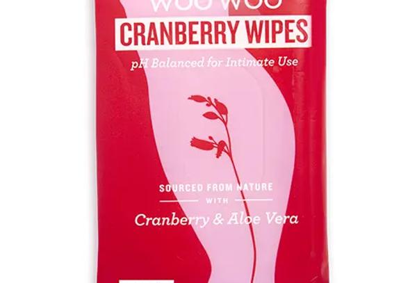 WooWoo Cranberry & Aloe Vera Initmate Wipes 12st