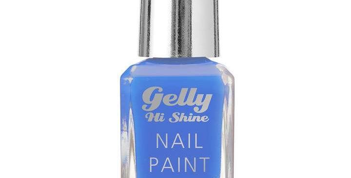 Barry M Gelly Hi Shine Nail Paint Blue Margarita
