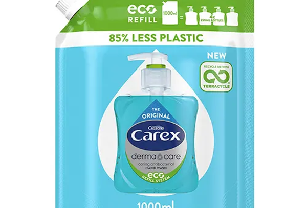 Carex Dermacare Original Antibakteriell Handtvål Refill Eco 1000 ml