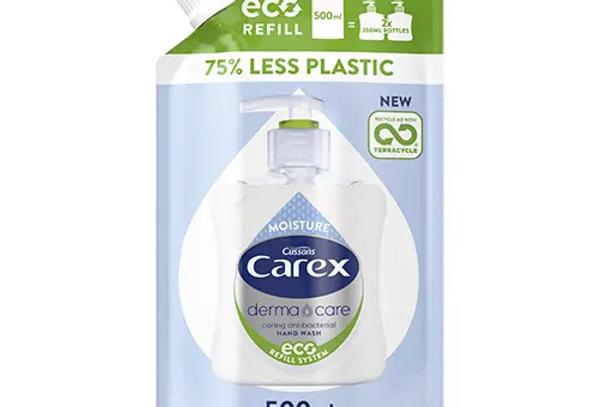 Carex Dermacare Moisture Antibakteriell Handtvål Refill Eco 500 ml