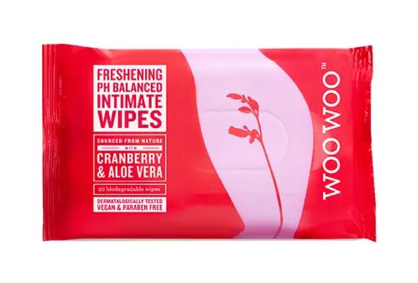WooWoo Cranberry & Aloe Vera Initmate Wipes 20st