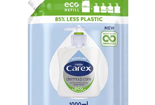 Carex Dermacare Moisture Antibakteriell Handtvål Refill Eco 1000 ml