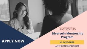 Application Open for Diversein Mentorship Program