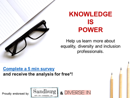 Equality, Diversity and Inclusion Professionals, we need YOU !