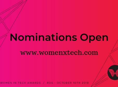 Women in Tech Awards Dublin is Open for Nominations
