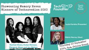 Showcasing Memory Haven Winners of Technovation 2020