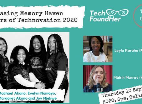 Showcasing Memory Haven Winners of Technovation 2020