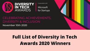 Full List of Diversity in Tech Awards 2020 Winners
