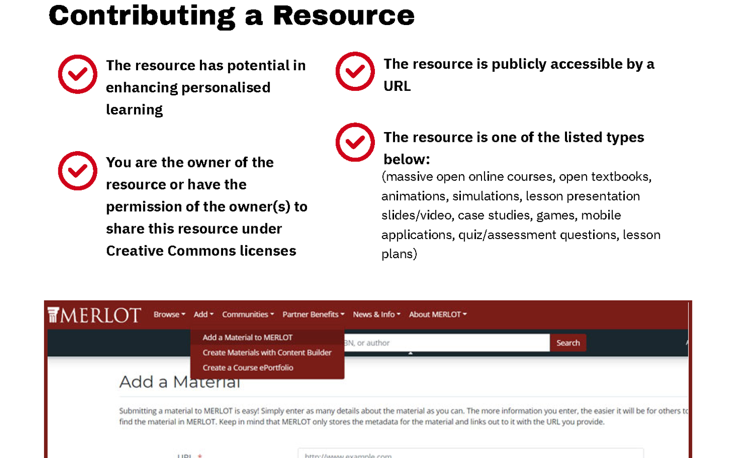 Contributing a Resource
