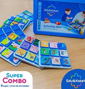 Kit com 6 jogos + Caixa de Atividades