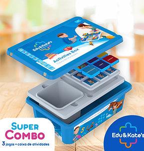 Kit com 3 jogos + Caixa de Atividades