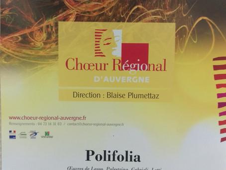 Polifolia - Concert du Choeur Régional d'Auvergne