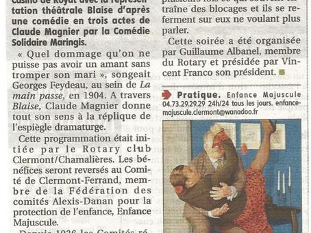 Presse : Pièce de Théatre Blaise