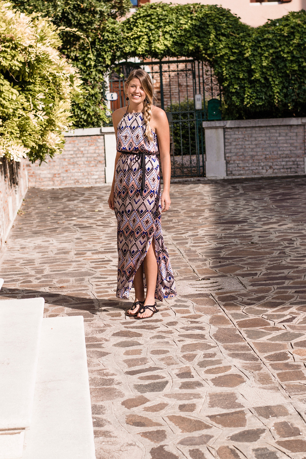 Holly Canon Travel and Lifestyle Blog Chelsea Boulder Maxi Dress Venice Italy Denver Colorado