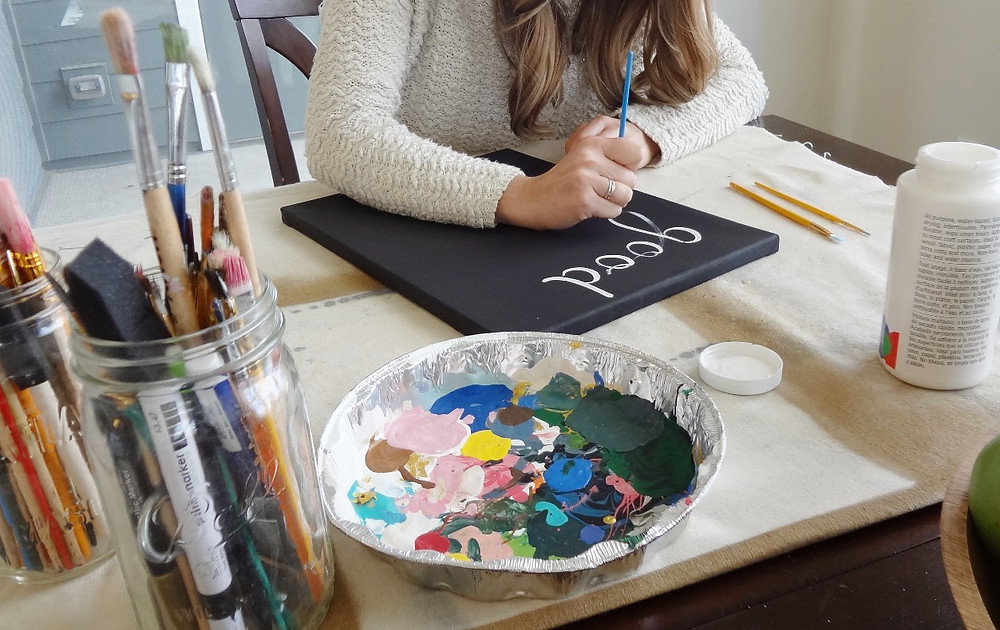 Holly Canon Travel and Lifestyle Blog Good Things Take Time Painting Crafting Art