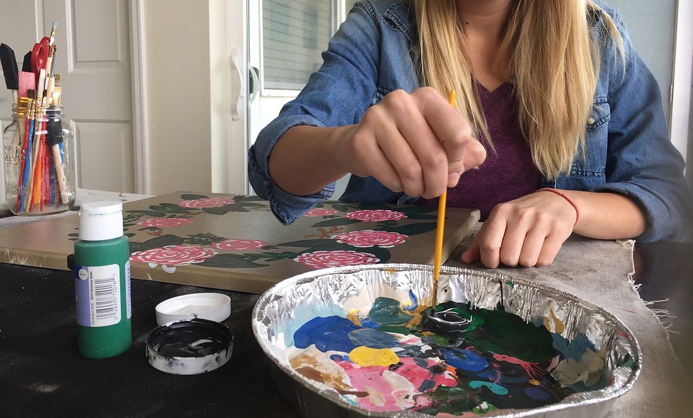 Holly Canon Blog Painting a Double Flower Crown