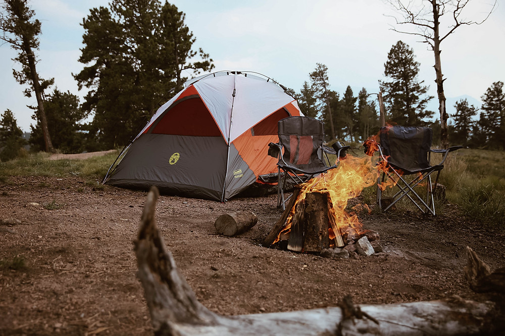 Holly Canon Travel and Lifestyle Blog Callie Riesling Photography Adventure Session Photoshoot Colorado Springs Colorado Denver Camping Glamping Toyota Target Apache Pine Plaid Flannel Fall Summer Campground Tent Hammock Outdoor Outside