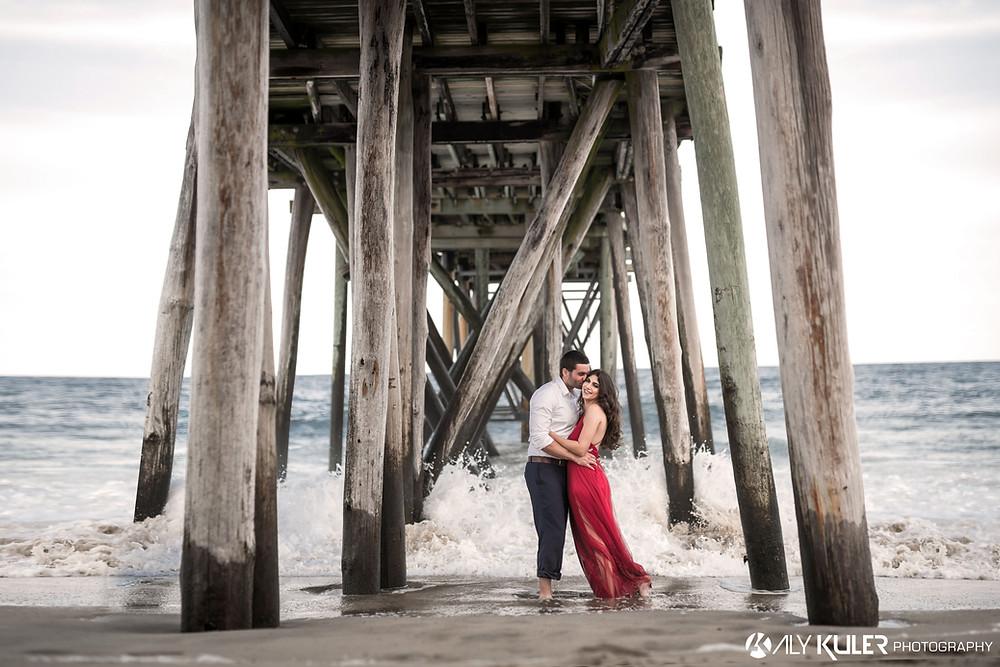 Ocean Grove Beach nj engagement photos