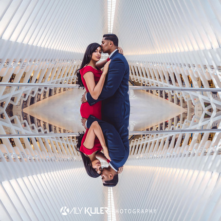 THE OCULUS NYC ENGAGEMENT PHOTOS
