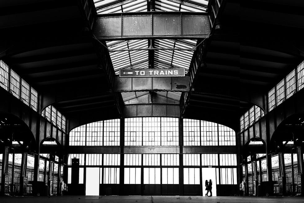 Engagement photos - Jersey City Train st