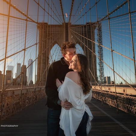 BROOKLYN BRIDGE NYC ENGAGEMENT PHOTOS | BRIDGET&JOHN