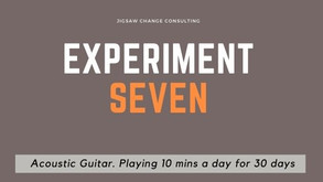 Experiment #7 - I got my first real six string...