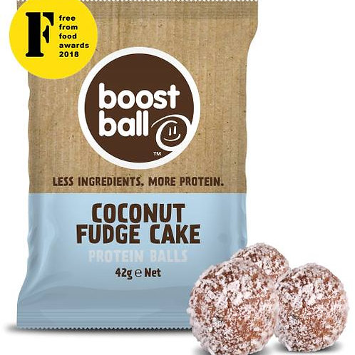Boostball Coconut Fudge Cake Protein balls