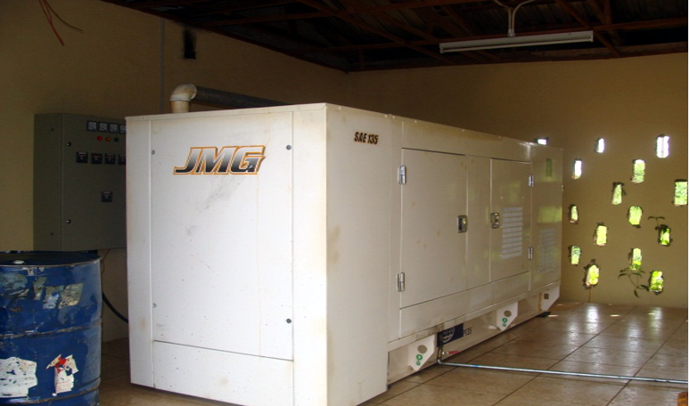 Fully installed generator that service the Center 24 hours on daily basis
