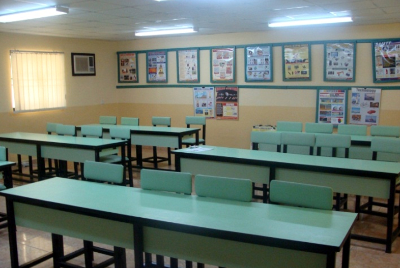 One of the classrooms at the Resource Center