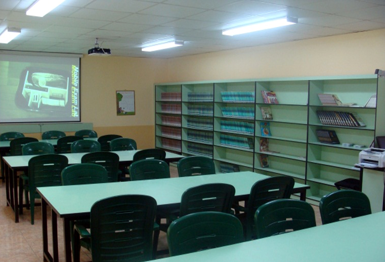 The new renovated library  at the center