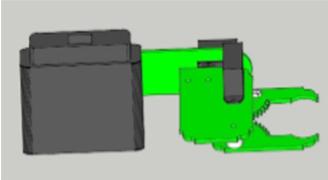 Brain arm with 3 servo motors unit