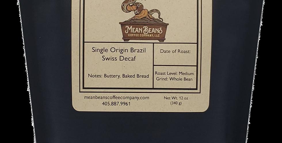 Single Origin Swiss Brazilian Decaf Coffee - Medium Roast