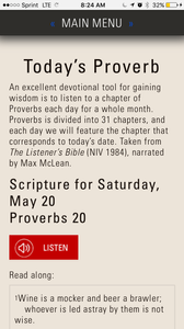 Today's Proverb app