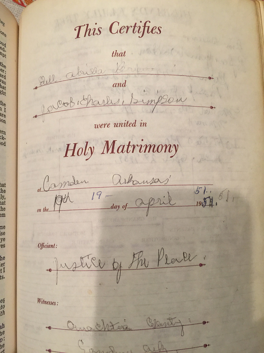 Great Grand Mother's Bible